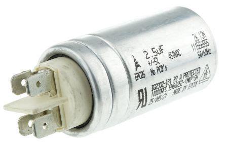 epcos polypropylene capacitors b32332i6255j081 epcos 2 5μf polypropylene capacitor pp 450v ac 177 5 tolerance stud mount b32332