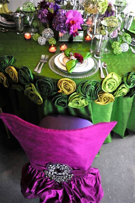 #Purple, #Fuschia and #Jade   Wedding Decor Ideas