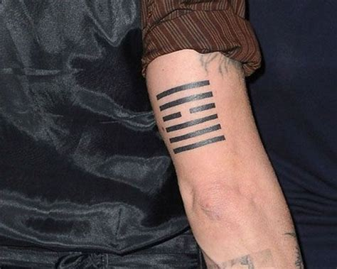 simple arm tattoos back arm this seemingly simple design has