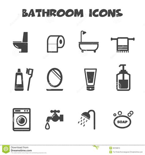 bathroom symbols bathroom icons stock vector image 38799813