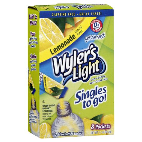 Light Packets by Wyler S Light Singles To Go Soft Drink Mix Low Calorie