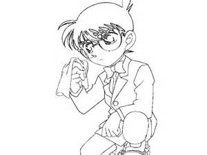 Detective Conan Coloring Pages Free For Kids Sketch Page sketch template