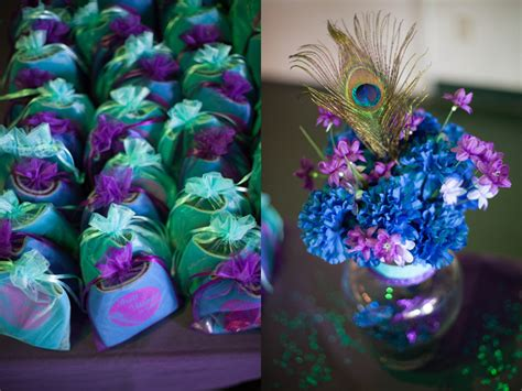 purple and turquoise wedding centerpieces peacock purple turquoise wedding details centerpieces
