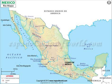 mapa de mexico con rios rios de mexico mapa de rios de mexico