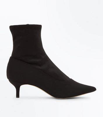 sock boots new look black satin kitten heel sock boots new look bluewater