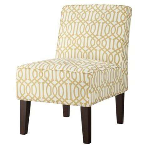 yellow patterned slipper chair threshold slipper chair yellow saw this at target the