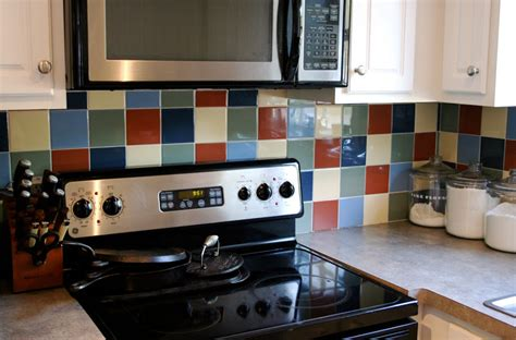 how to paint tile backsplash in kitchen eighteenth century agrarian business diy painting kitchen tile