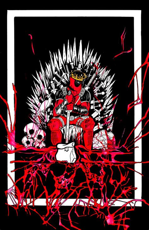 wallpaper deadpool game of thrones king deadpool on the iron throne by vitmncisill on deviantart
