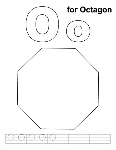 free coloring pages of octagon tracinge