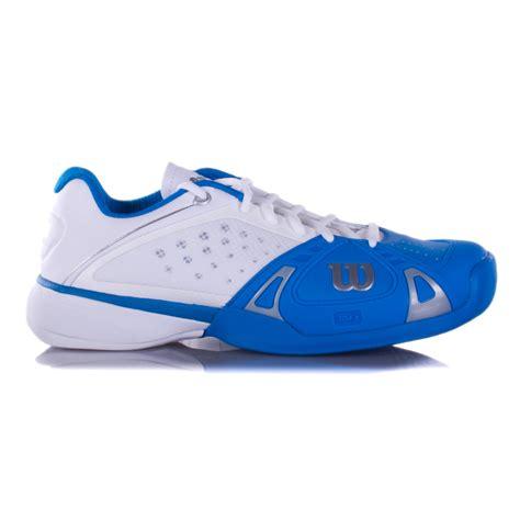wilson pro s tennis shoes blue white