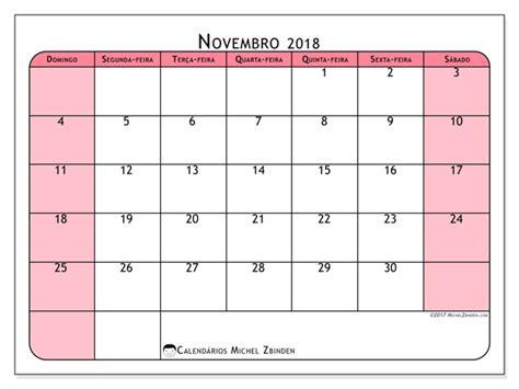 Calendario Novembro 2018 Calend 225 Para Imprimir Novembro 2018 Severinus Brasil