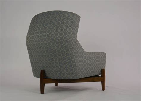 Big Chair With Ottoman jens risom quot big chair quot with ottoman at 1stdibs