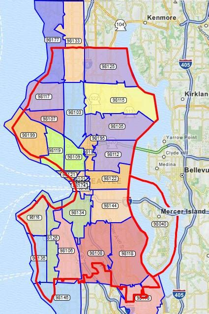 seattle zip code map seattle map zip codes travel maps and major tourist