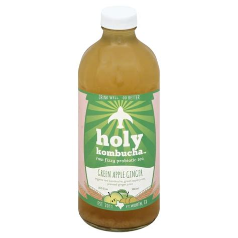Holy Detox Tea Benefits by Holy Kombucha Tea Fizzy Probiotic Green Apple