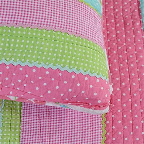 Quilting Sofa Cover Small Pink Flower 9 Kode Ss9650 brandream pink polka dot stripe floral quilt set