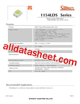 pdt stanley vcpw1154lds datasheet pdf stanley electric co ltd