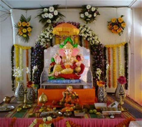 how to decorate a temple at home free beautiful photos collection ganesh chaturthi 2012 decoration ideas vinayak chaturthi 2012