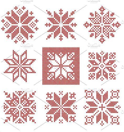 snowflake pattern cross stitch 21 snowflake patterns free psd vector ai eps format