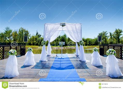 Wedding Ceremony Background by Decorations For The Wedding Stock Photo Image 35719610