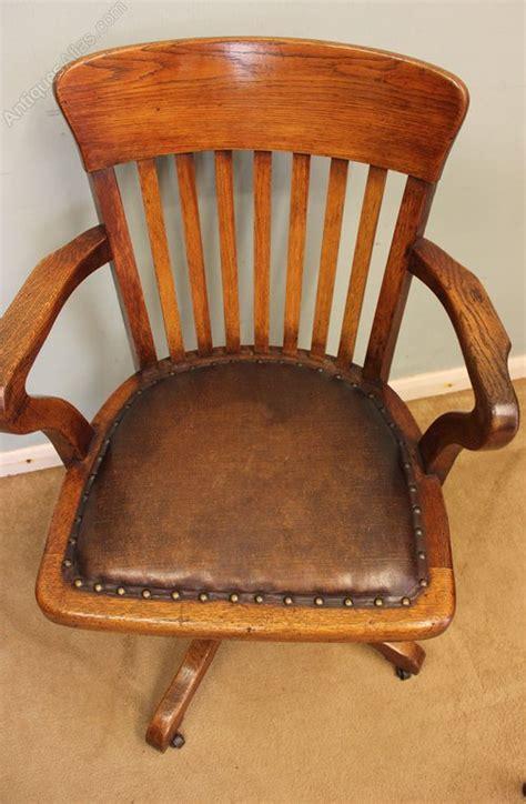 antique oak swivel desk chair oak swivel office desk chair antiques atlas
