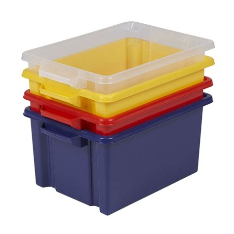 plastic storage containers buy 32lt strata maxi plastic storage box with or without lid