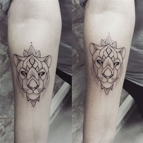 lion and lioness tattoo matching lioness tattoos by ness cerciello lioness