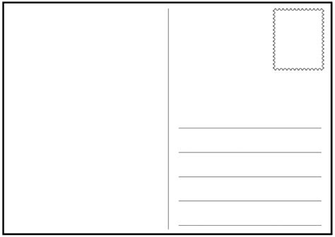 21 Free Postcard Template Word Excel Formats Post Template Free