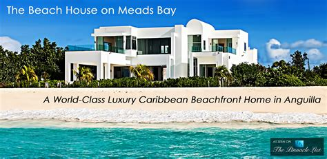 houses on the beach the beach house on meads bay a world class luxury caribbean beachfront home in