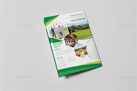 a5 brochure template golf resort a5 brochure template by wutip2 graphicriver