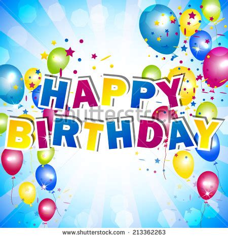 happy birthday card design template birthday background color balloons stock vector 139797301