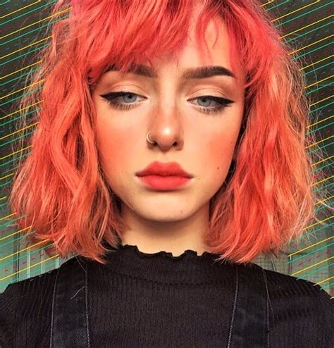 coral hair color 35 edgy hair color ideas to try right now cosmico