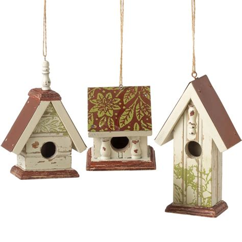 birdhouse ornament christmas decor pinterest