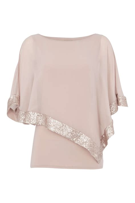 Chiffon Sequin Pouch By Bags To Die For by Sequin Chiffon Overlay Top In Light Pink Originals Uk