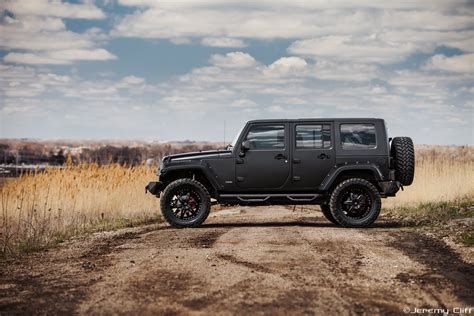 Black Jeep Car Supercharged Jeep Wrangler Black Suv Car Wallpaper