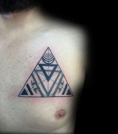 triangle tattoo on lips chest 40 chakras dise 241 os de tatuajes para los hombres ideas de