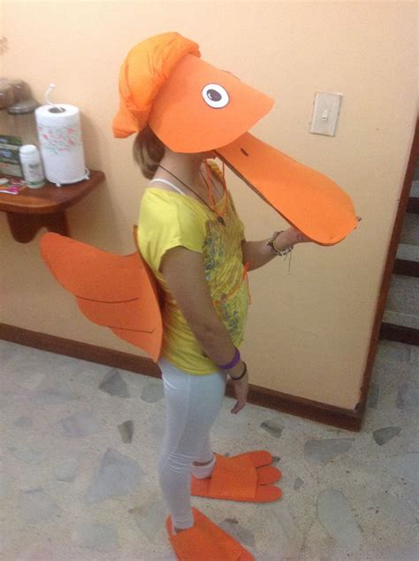 How To Make A Duck Beak Out Of Paper - foam duck costume beak and honk jr
