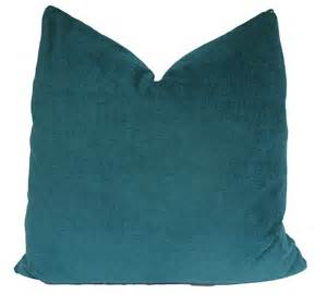 decorative turquoise teal plush pillow cover by makingfabulous