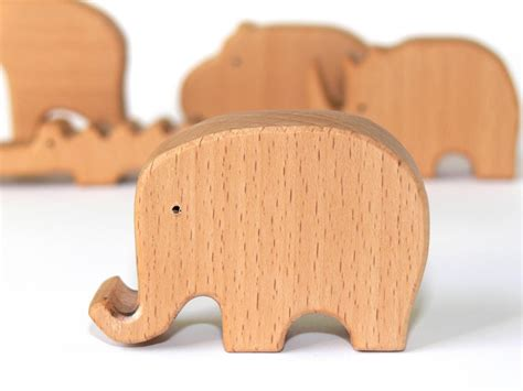 Wooden Handmade Toys - baby elephant wooden eco friendly handmade wooden
