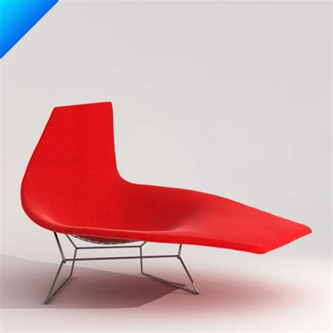 chaise knoll 3d bertoia asymmetric chaise knoll furniture