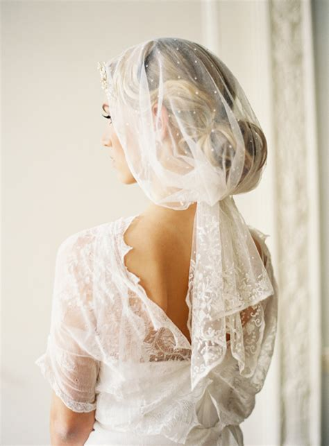 Vintage Wedding Hair Veils by Vintage Wedding Veils Once Wed