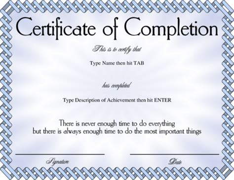certificate of completion ojt template award certificate templates