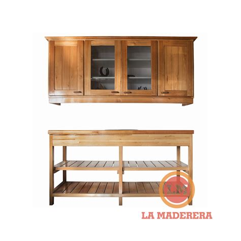 alacena y bajo mesada de pino mueble bajo mesada alacena con bacha incluida en saligna