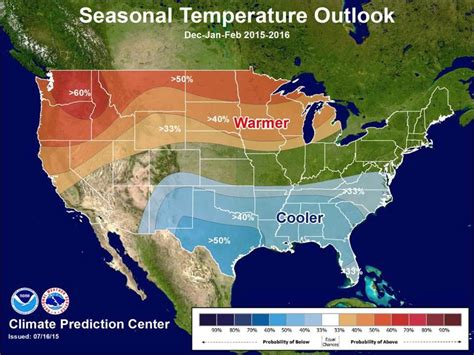whats the winter outlook for 2015 2016 noaa s winter weather forecast 2016 strong el nino