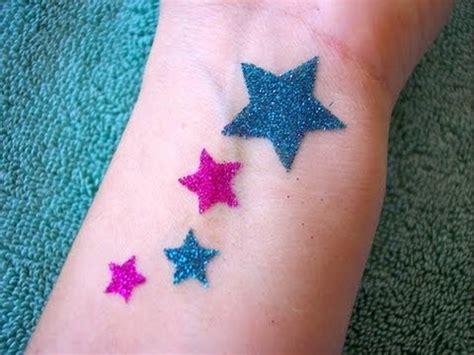 homemade glitter tattoo youtube