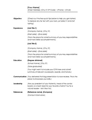 Resumes And Cover Letters Office Com Microsoft Office Cover Letter Template