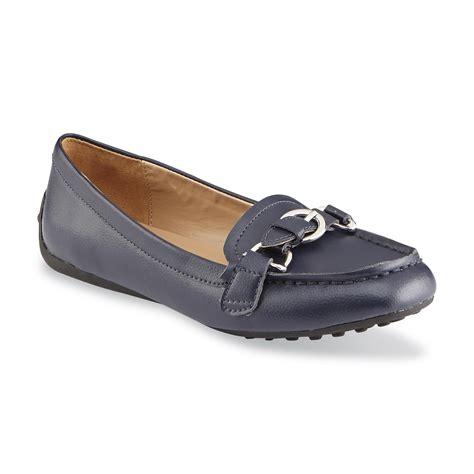 i comfort i love comfort women s leather carlton navy memory foam