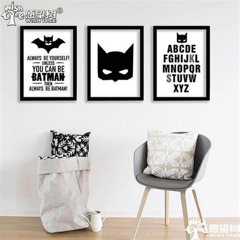 batman poster wall poster home decor canvas print