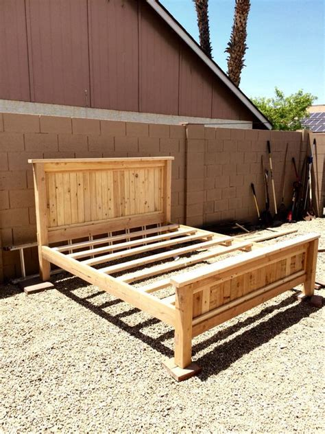 diy king size platform bed frame   diy bed