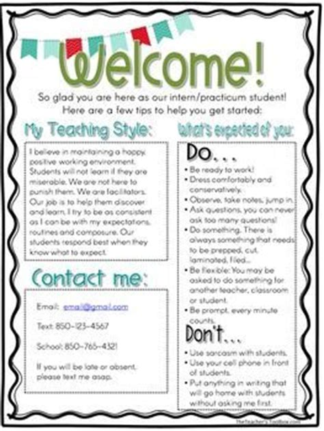 1000 ideas about teacher welcome letters on pinterest