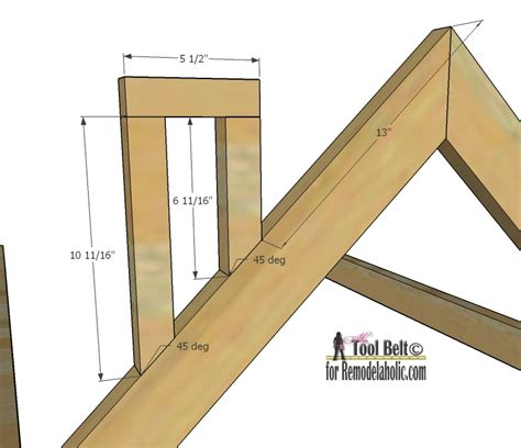 remodelaholic house frame bed building plan